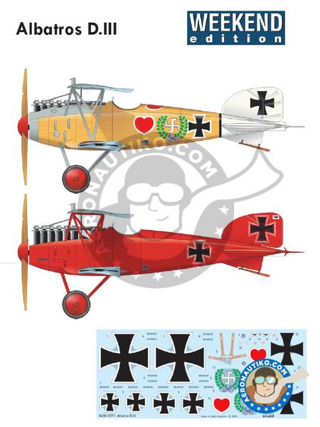Albatros Flugzeugwerke D.III | Airplane kit in 1/48 scale manufactured by Eduard (ref.8438) image