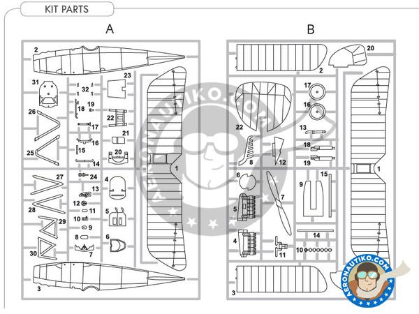 Image 4: Albatros Flugzeugwerke D.III | Airplane kit in 1/48 scale manufactured by Eduard (ref.8438)