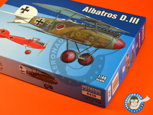 Image 5: Albatros Flugzeugwerke D.III | Airplane kit in 1/48 scale manufactured by Eduard (ref.8438)