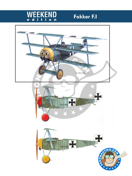 Fokker F.I | Airplane kit in 1/48 scale manufactured by Eduard (ref. 8493) image