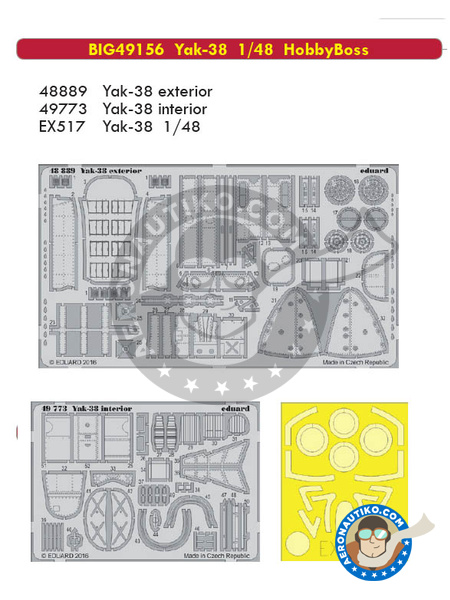 Yakovlev Yak-38 | Big ED set in 1/48 scale manufactured by Eduard (ref. BIG49156) image