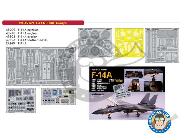 Image 1: Grumman F-14 Tomcat A | Big ED set in 1/48 scale manufactured by Eduard (ref. BIG49169)
