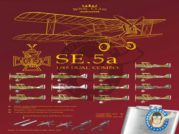 Image 3: SE.5a | Model kit in 1/48 scale manufactured by Eduard (ref. R0015)