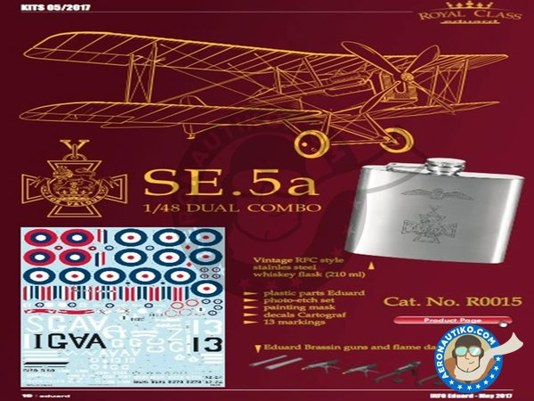 Image 4: SE.5a | Model kit in 1/48 scale manufactured by Eduard (ref. R0015)
