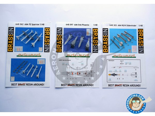 Image 1: Grumman F-14 Tomcat weapons set A | BIG SIN in 1/48 scale manufactured by Eduard (ref. SIN64828)