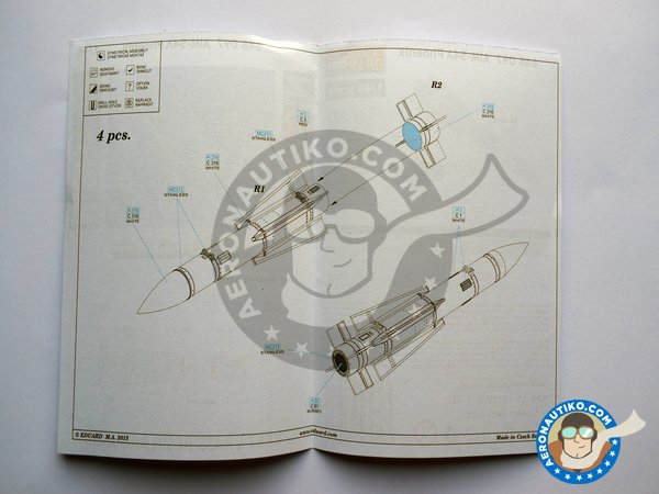 Image 6: Grumman F-14 Tomcat weapons set A | BIG SIN in 1/48 scale manufactured by Eduard (ref. SIN64828)