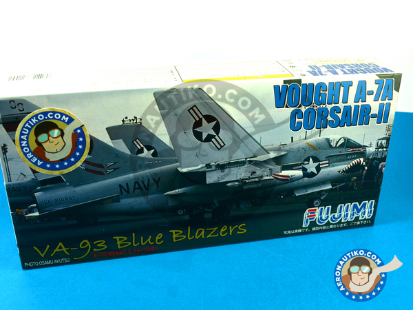Image 1: Ling-Temco-Vought A-7 Corsair II A | Airplane kit in 1/72 scale manufactured by Fujimi (ref. FJ72209)