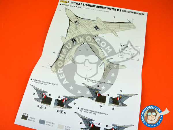 Image 6: Handley Page Victor B.2 | Airplane kit in 1/144 scale manufactured by Great Wall Hobby (ref.L1004)