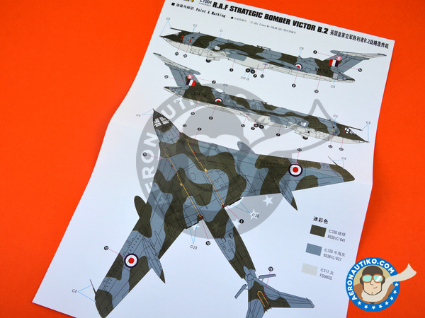 Image 7: Handley Page Victor B.2 | Airplane kit in 1/144 scale manufactured by Great Wall Hobby (ref.L1004)