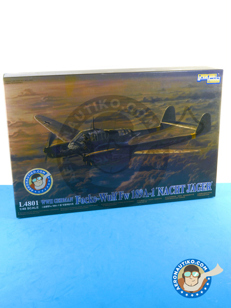 Focke-Wulf Fw 189 Uhu A-1 Nacht Jäger | Airplane kit in 1/48 scale manufactured by Great Wall Hobby (ref. L4801) image