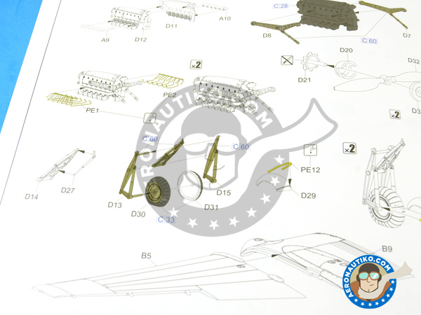 Image 15: Focke-Wulf Fw 189 Uhu A-1 Nacht Jäger | Airplane kit in 1/48 scale manufactured by Great Wall Hobby (ref. L4801)