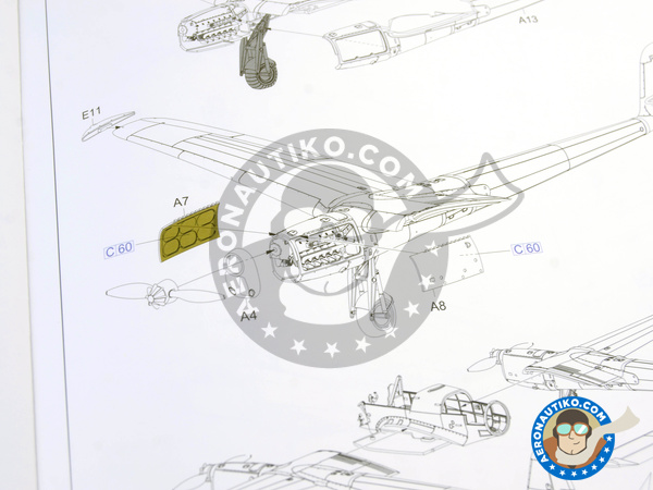 Image 17: Focke-Wulf Fw 189 Uhu A-1 Nacht Jäger | Airplane kit in 1/48 scale manufactured by Great Wall Hobby (ref. L4801)
