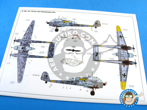 Image 20: Focke-Wulf Fw 189 Uhu A-1 Nacht Jäger | Airplane kit in 1/48 scale manufactured by Great Wall Hobby (ref. L4801)