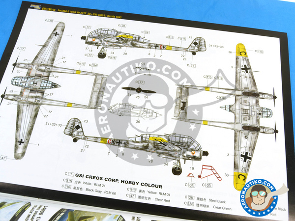 Image 10: Focke-Wulf Fw 189 Uhu A-2 | Airplane kit in 1/48 scale manufactured by Great Wall Hobby (ref. L4803)