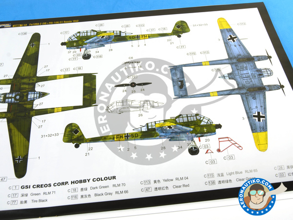 Image 11: Focke-Wulf Fw 189 Uhu A-2 | Airplane kit in 1/48 scale manufactured by Great Wall Hobby (ref. L4803)