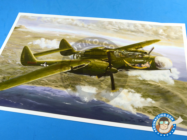 Image 3: Northrop P-61 Black Widow A Glass Nose | Airplane kit in 1/48 scale manufactured by Great Wall Hobby (ref. L4806)
