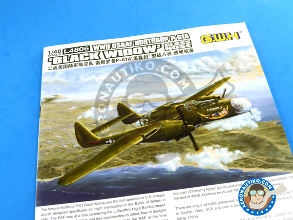 Image 20: Northrop P-61 Black Widow A Glass Nose | Airplane kit in 1/48 scale manufactured by Great Wall Hobby (ref. L4806)