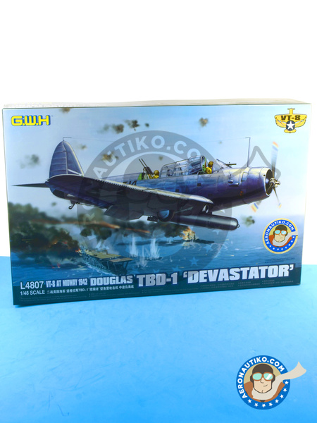 Douglas TBD Devastator 1 VT-8 | Airplane kit in 1/48 scale manufactured by Great Wall Hobby (ref. L4807) image
