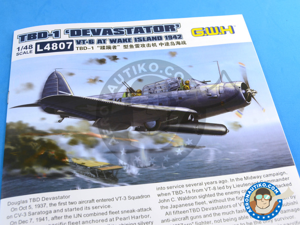 Image 17: Douglas TBD Devastator 1 VT-8 | Airplane kit in 1/48 scale manufactured by Great Wall Hobby (ref. L4807)