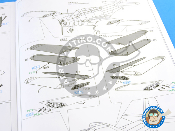 Image 24: Douglas TBD Devastator 1 VT-8 | Airplane kit in 1/48 scale manufactured by Great Wall Hobby (ref. L4807)