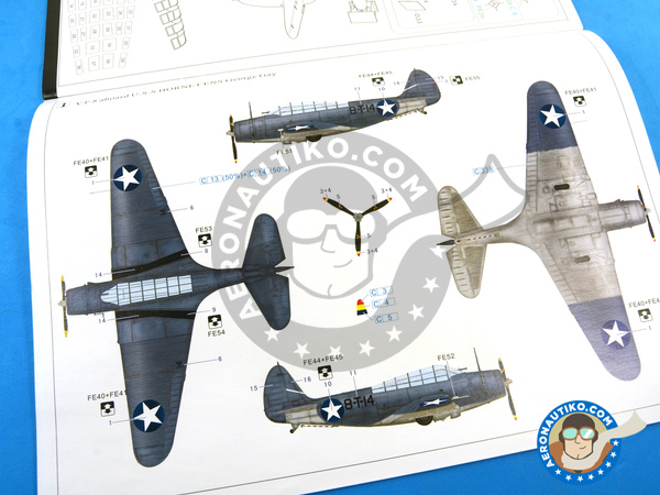 Image 27: Douglas TBD Devastator 1 VT-8 | Airplane kit in 1/48 scale manufactured by Great Wall Hobby (ref. L4807)