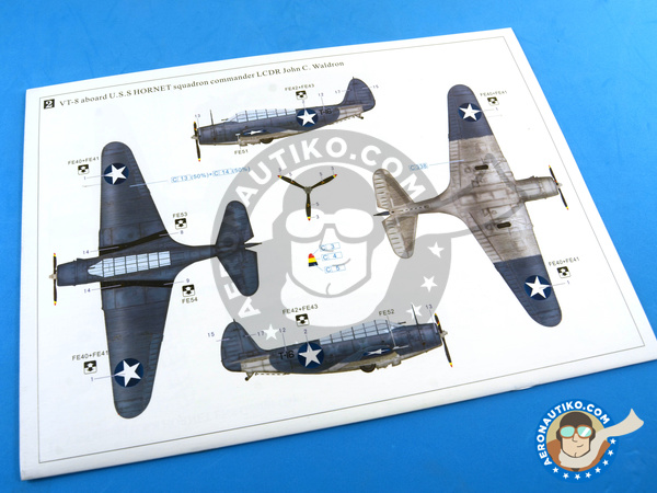 Image 28: Douglas TBD Devastator 1 VT-8 | Airplane kit in 1/48 scale manufactured by Great Wall Hobby (ref. L4807)