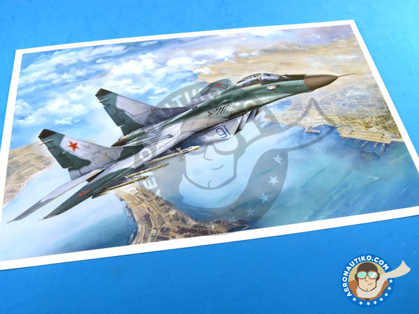 Image 19: Mikoyan MiG-29 Fulcrum 9-12 Late type | Airplane kit in 1/48 scale manufactured by Great Wall Hobby (ref. L4811)