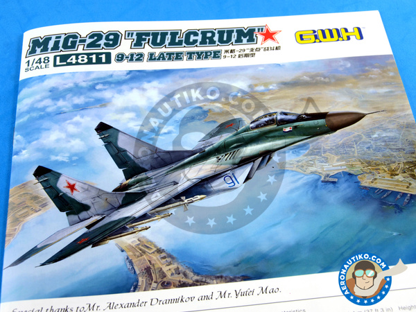 Image 20: Mikoyan MiG-29 Fulcrum 9-12 Late type | Airplane kit in 1/48 scale manufactured by Great Wall Hobby (ref. L4811)