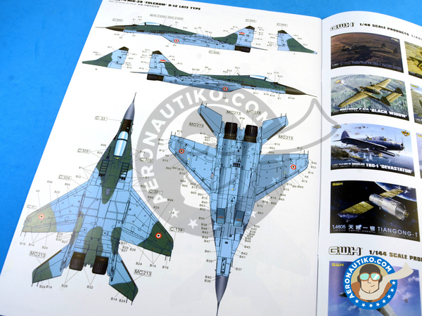 Image 28: Mikoyan MiG-29 Fulcrum 9-12 Late type | Airplane kit in 1/48 scale manufactured by Great Wall Hobby (ref. L4811)