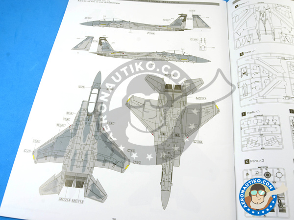 Image 35: McDonnell Douglas F-15 Eagle B / D | Airplane kit in 1/48 scale manufactured by Great Wall Hobby (ref. L4815)