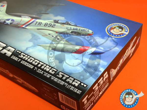 Image 16: Lockheed T-33 Shooting Star A early version | Airplane kit in 1/48 scale manufactured by Great Wall Hobby (ref. L4819)