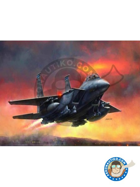 F-15E Strike Eagle | Airplane kit in 1/48 scale manufactured by Great Wall Hobby (ref. L4822) image