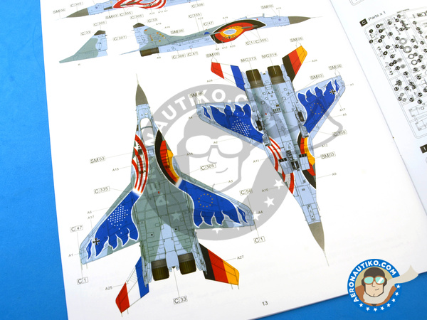 Image 29: Mikoyan MiG-29 Fulcrum 9-12 Late type | Airplane kit in 1/48 scale manufactured by Great Wall Hobby (ref. S4801)