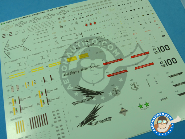 Image 19: McDonnell Douglas F-15 Eagle C MSIP II | Airplane kit in 1/48 scale manufactured by Great Wall Hobby (ref.S4804)