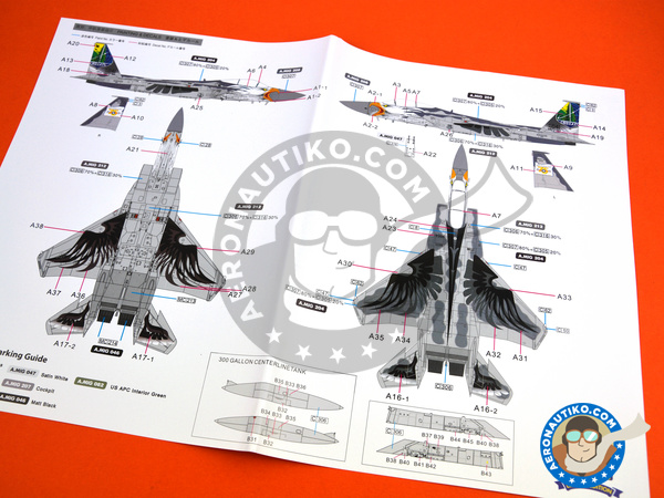 Image 14: McDonnell Douglas F-15 Eagle C | Airplane kit in 1/48 scale manufactured by Great Wall Hobby (ref.S4806)