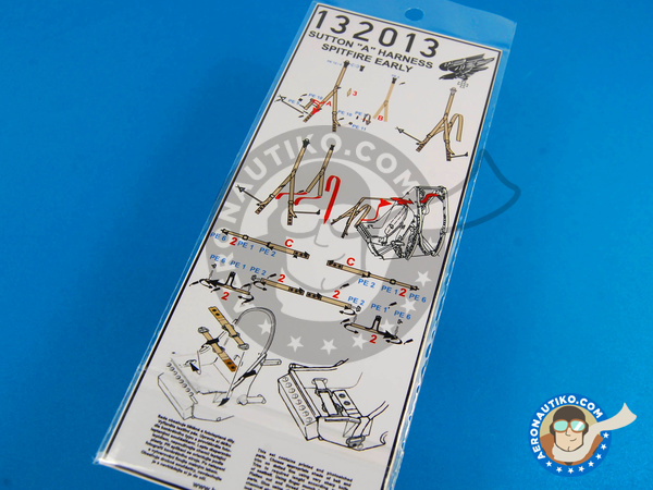 Image 2: Supermarine Spitfire | Seatbelts in 1/32 scale manufactured by HGW (ref. 132013)