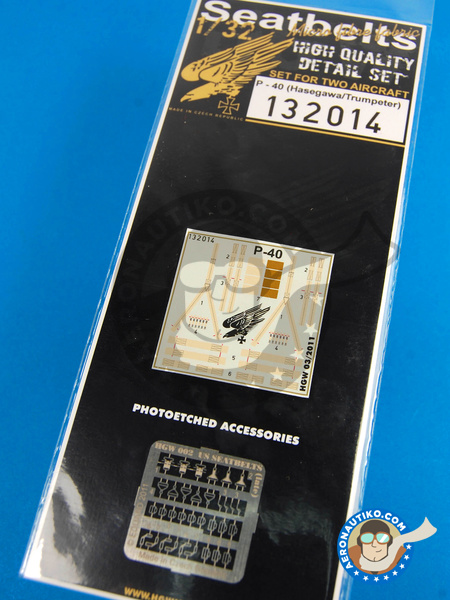 Curtiss P-40 Warhawk | Seatbelts in 1/32 scale manufactured by HGW (ref.132014) image