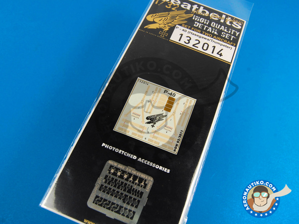 Image 1: Curtiss P-40 Warhawk | Seatbelts in 1/32 scale manufactured by HGW (ref.132014)