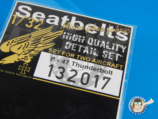 Image 5: Republic P-47 Thunderbolt | Seatbelts in 1/32 scale manufactured by HGW (ref. 132017)