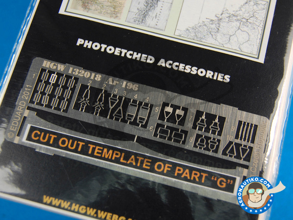 Image 3: Arado Ar 196 | Seatbelts in 1/32 scale manufactured by HGW (ref.132031)