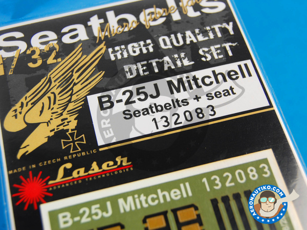 Image 2: North American B-25 Mitchell | Seatbelts in 1/32 scale manufactured by HGW (ref. 132083)