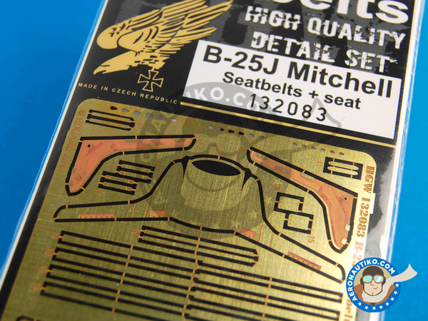 Image 9: North American B-25 Mitchell | Seatbelts in 1/32 scale manufactured by HGW (ref. 132083)