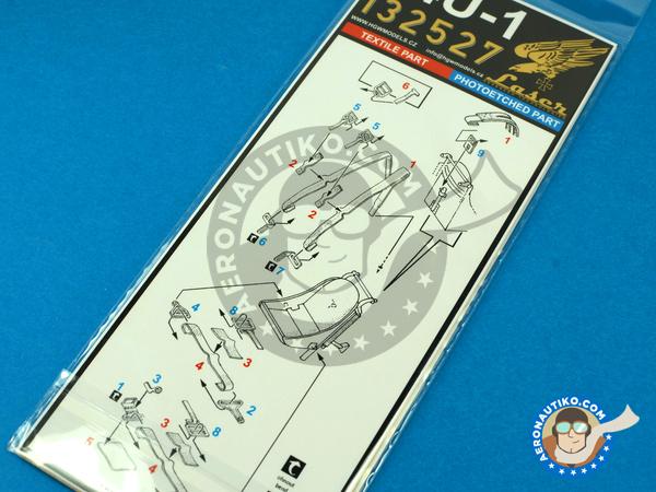 Image 4: Vought F4U Corsair F4U-1 | Seatbelts in 1/32 scale manufactured by HGW (ref.132527)