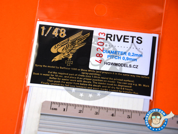 Image 4: Rivets lines | Rivets manufactured by HGW (ref. 482013)