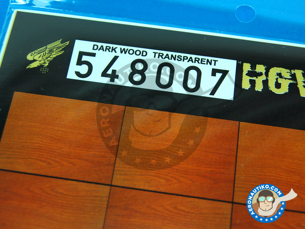 Image 2: Dark wood on transparent base - A4 side | Decals manufactured by HGW (ref. 548007)