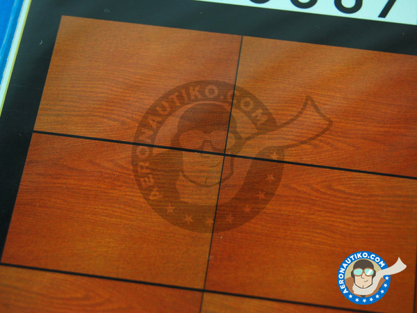 Image 3: Dark wood on transparent base - A4 side | Decals manufactured by HGW (ref. 548007)