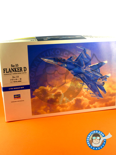 Sukhoi Su-33 Flanker D | Airplane kit in 1/72 scale manufactured by Hasegawa (ref. 01565) image