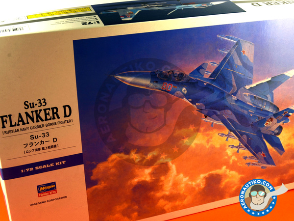 Image 10: Sukhoi Su-33 Flanker D | Airplane kit in 1/72 scale manufactured by Hasegawa (ref. 01565)