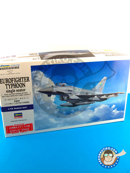 Eurofighter Typhoon EF-2000 Single Seater | Airplane kit in 1/72 scale manufactured by Hasegawa (ref. 01570) image