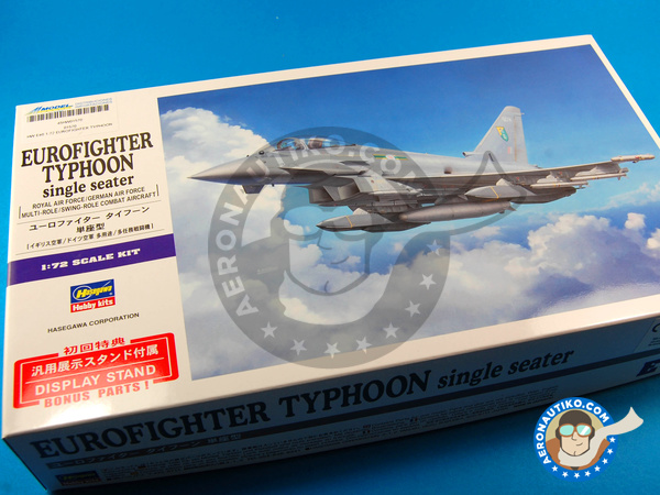 Image 1: Eurofighter Typhoon EF-2000 Single Seater | Airplane kit in 1/72 scale manufactured by Hasegawa (ref. 01570)